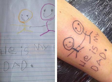 Populair Je bent trotse vader en denkt goed na over een Tattoo maar kan ook #RQ13